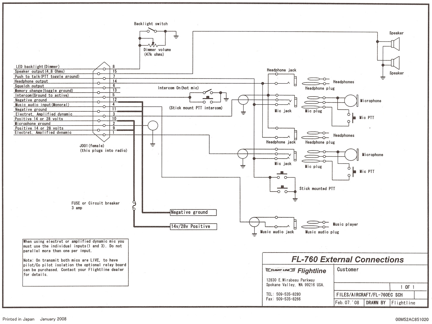 FL 760 Wiring Diagram cumulus soaring, inc flightline GM Radio Wiring Diagram at fashall.co