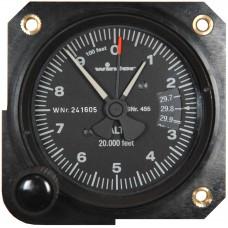 W-4555, Winter,  Altimeter, Model: 4FGH 40, 20,000 feet, inHg, 3-pointer - Popular