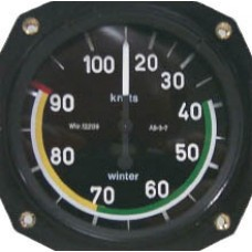 W-6212, WInter,  Airspeed Indicator, Model 6 FMS 212 - Popular with Schweizer Sailplane Owners